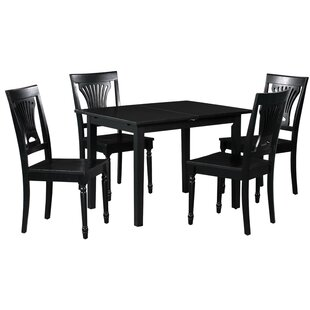 Spiller 5 Piece Extendable Solid Wood Dining Set Winston Porter