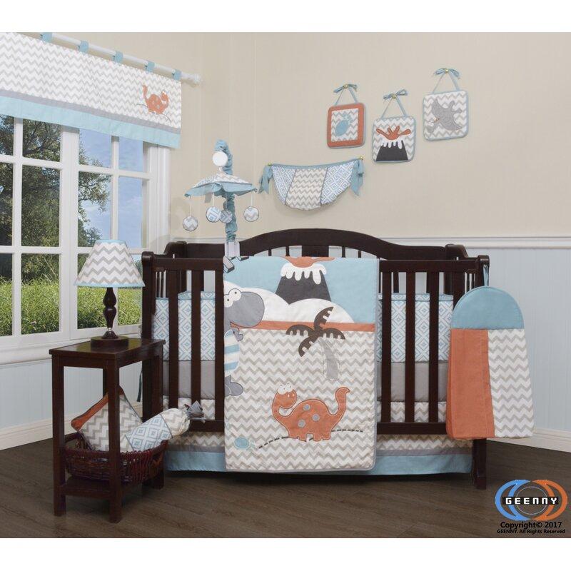 Harriet Bee Hollywood Baby Boy Dinosaurs Nursery 12 Piece Crib