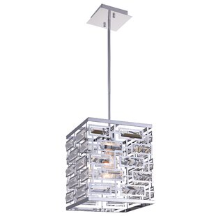 Petia 1-Light Square/Rectangle Pendant by CWI Lighting