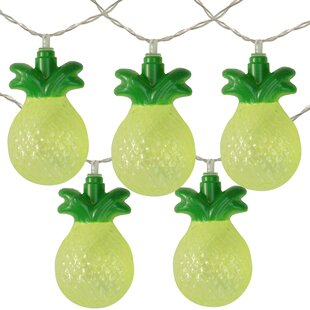 Tropical Pineapple Summer 54 ft. 10-Light Novelty String Light by The Party Aisle
