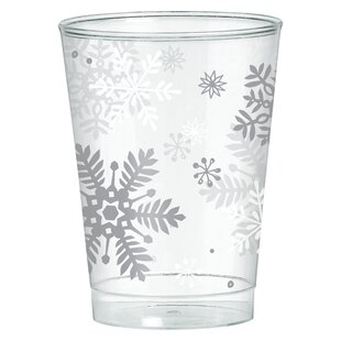 Christmas Snowflake Plastic Disposable Every Day Cup (Set of 40)