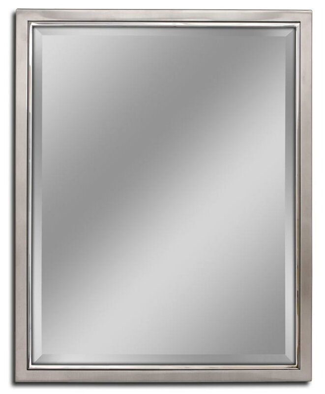 Kennith Classic Metal Framed Bathroom Vanity Wall Mirror