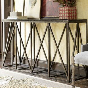 Gracie Oaks Wellison Metal Frame Console ..
