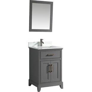 24 Single Bathroom Vanity Set with Mirror by Vanity Art