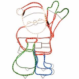 Christmas Animated Father Santa Claus Waving Hand Lighted Display By The Seasonal Aisle
