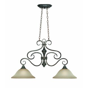 Fleur De Lis Living Wiliams 2-Light Shaded Chandelier