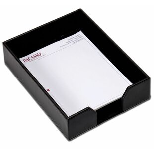 Dacasso Bonded Leather Letter Tray