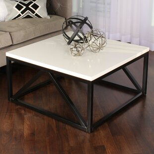 Dunstan Two Toned Wood Square Coffee Table