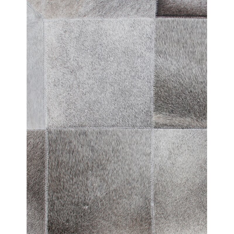 Exquisite Rugs Natural Hide Hand Woven Cowhide Silver Area Rug Reviews Wayfair