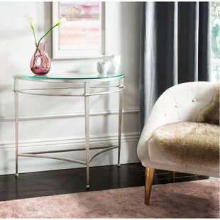 Merriman Antique Glass Console Table by House of Hampton Herry Up