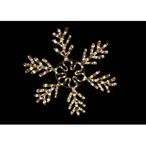 White Rope Lit Snowflake Ice