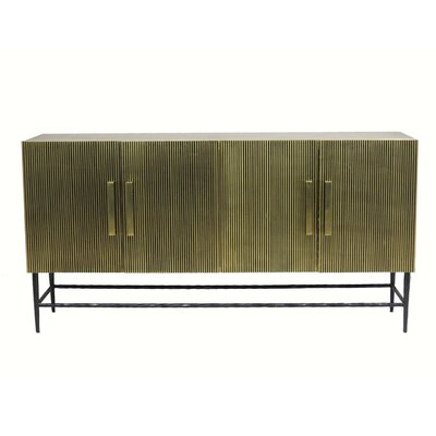 """Everly Quinn Scalloped 59.1"""" Wide Sideboard"""
