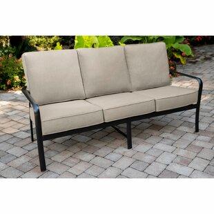 Colson Commercial-Grade Aluminum Sofa With Plush Sunbrella Cushions By Gracie Oaks