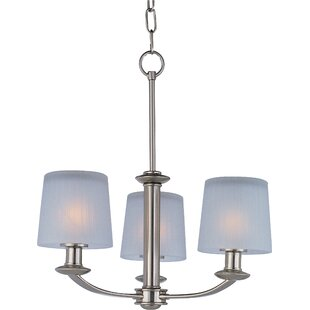Wendell 3-Light Shaded Chandelier by Latitude Run
