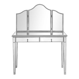 Orpha Contemporary Handpainted Vanity with Mirror
