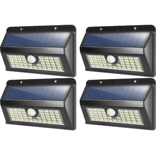 Deluxe Comfort Solar Garden 45 Light LED Flood Light (Set of 4)