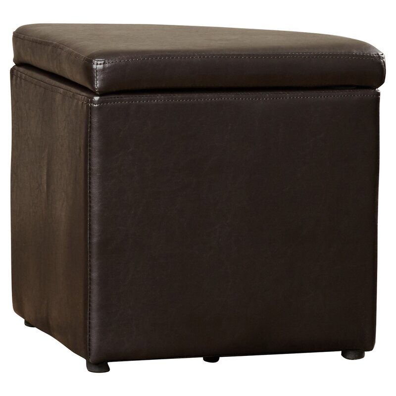 Dempsey Gas Lift Coffee Table With Ottomans Ottoman Leather