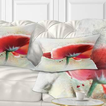 East Urban Home Couch Twilight Poppies Throw Pillow Wayfair