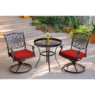 Astoria Grand Revell Traditions Swivel 3 Piece Bistro Set