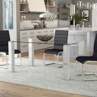 Detwiler Modern Brushed Dining Table Wade Logan