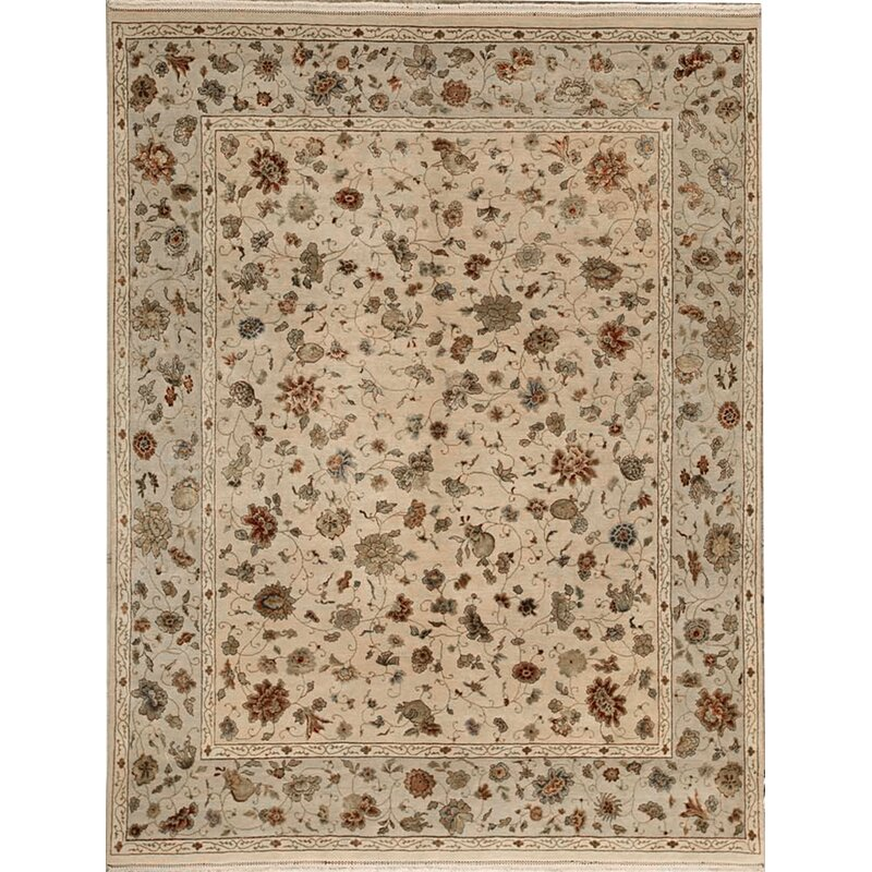 Bokara Rug Co Inc Chantel Oriental Hand Knotted 8 1 X 10 1 Wool Silk Brown Ivory Area Rug Wayfair