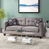 Tidworth 79'' Square Arm Sofa Bed with Reversible Cushions
