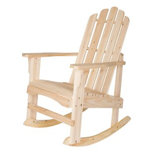 Shine Company Inc. Marina Solid Wood Rocking Adirondack Chair