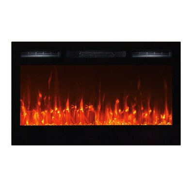Orren Ellis Slagle Wall Mounted Electric Fireplace