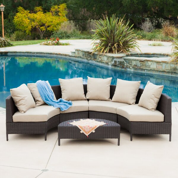Mercury Row Dowd Low Profile 5 Piece Seating Group With Cushion U0026 Reviews |  Wayfair