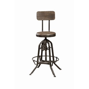 Solomon Adjustable Height Bar Stool by 17..