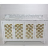 Nonatum 60 White Double Bathroom Vanity by Rosecliff Heights