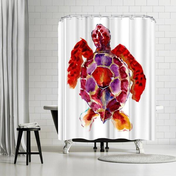 East Urban Home Suren Nersisyan Red Sea Turtle Single Shower Curtain Wayfair