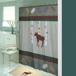 Lorraine Moose Cotton Single Shower Curtain