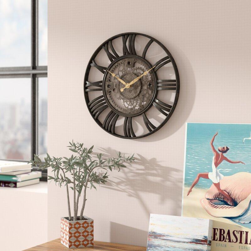 Trent Austin Design Lehigh Roman Gear 15 Quot Wall Clock