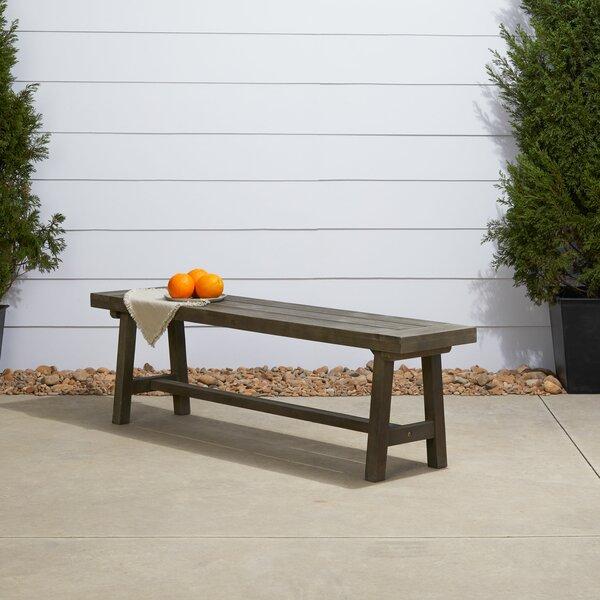Surprising Gracie Oaks Rimini Wood Bench Wayfair Ibusinesslaw Wood Chair Design Ideas Ibusinesslaworg