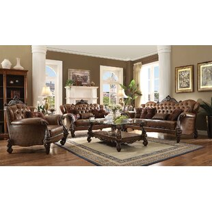 Astoria Grand Bermuda 3 Piece Living Room Set