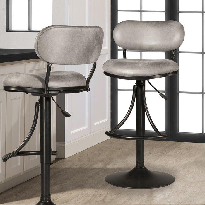 Fantastic Bodden Adjustable Swivel Bar Stool Lamtechconsult Wood Chair Design Ideas Lamtechconsultcom