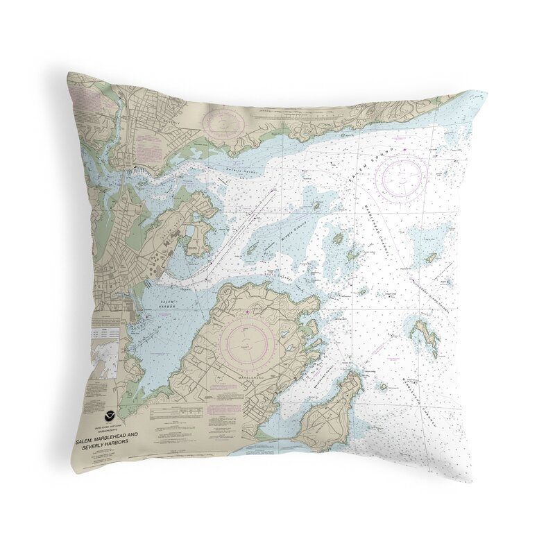 East Urban Home Salem Marblehead And Beverly Harbors Ma Non Corded Indoor Outdoor Throw Pillow Wayfair