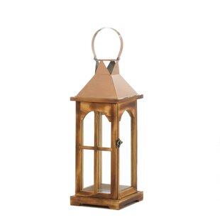Glass/Stainless Steel/Wood Lantern by Alcott Hill