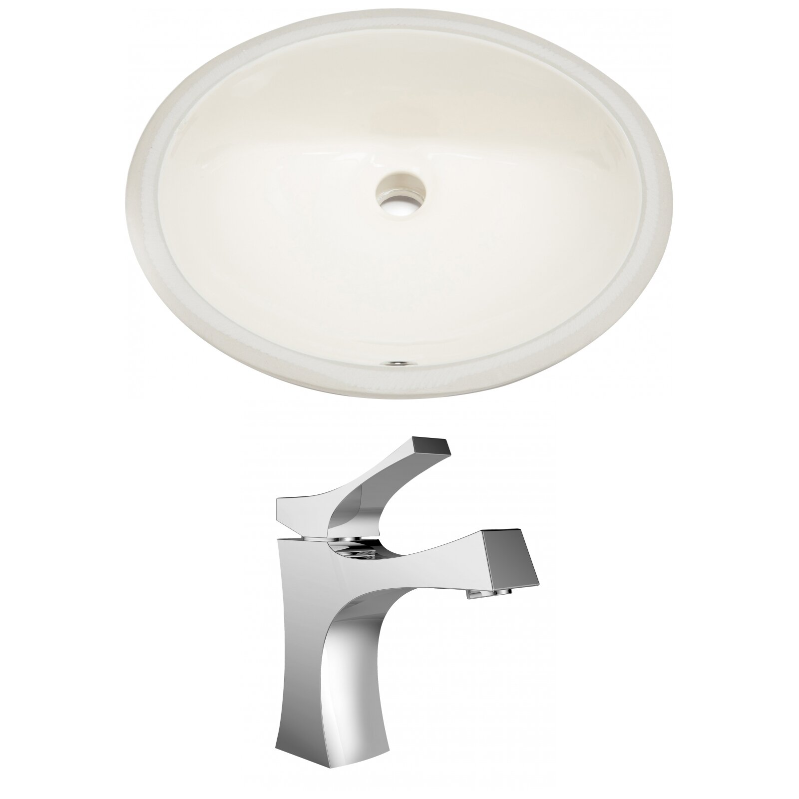 American Imaginations Cupc Ceramic Oval Undermount Bathroom Sink With Faucet And Overflow Wayfair