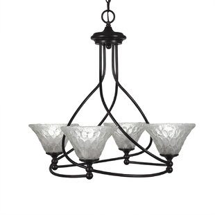 Winston Porter Skypark 4-Light Shaded Chandelier