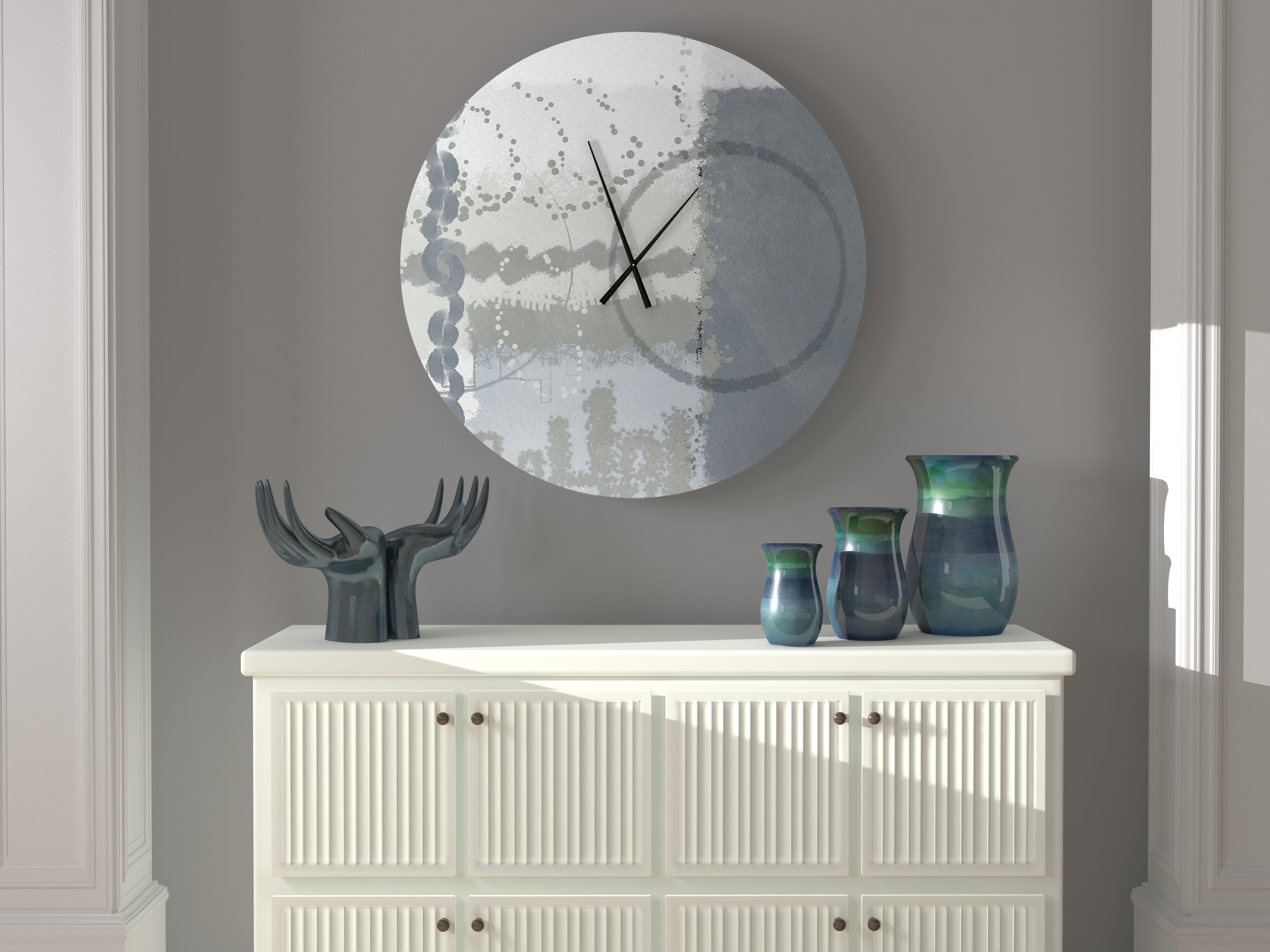Latitude Run Snap Swell Abstract Metal Wall Clock Wayfair