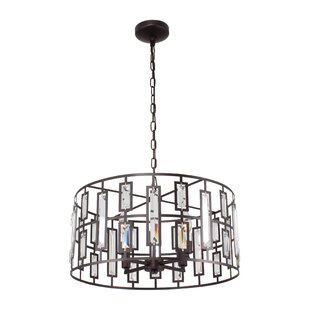 MoretinMarsh Contemporary 4-Light Drum Chandelier