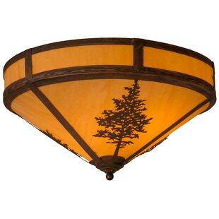 Meyda Tiffany Greenbriar Oak Tamarack 2-Light Flush Mount