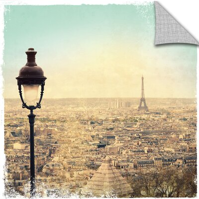 "Eiffel Landscape Graphic Art on Canvas Lark Manor Size: 14"" H x 14"" W x 0.1"" D"