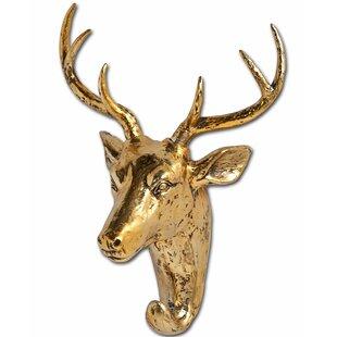 Resin Deer Bust Wall Hook by Willa Arlo Interiors