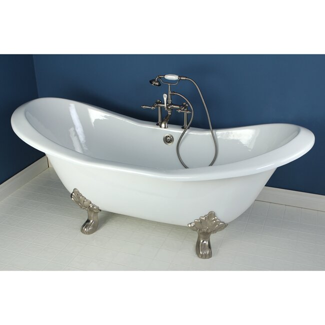 Kingston Brass Aqua Eden Soaking Bathtub Reviews Wayfair