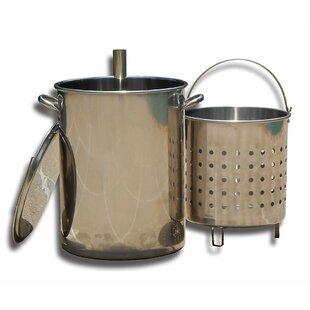 King Kooker 30 Quart Stainless Steel Turkey Skewer Pot with Basket & Lid for 86PKT