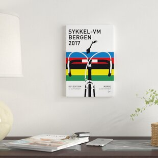 Road World Championships Minimal Poster Print On Canvas By East Urban Home