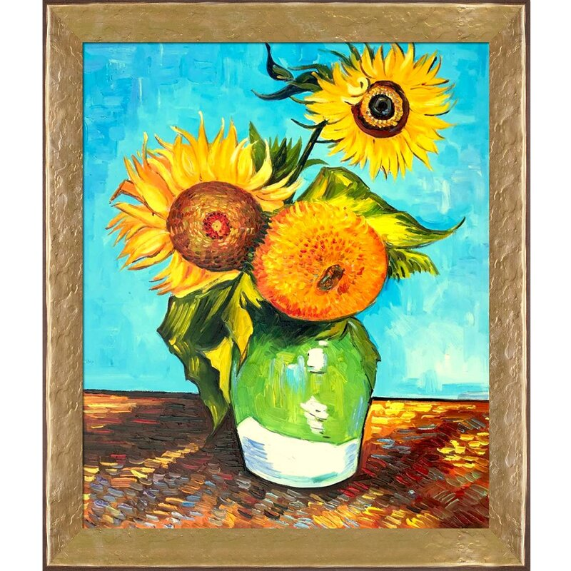 Tori Home Sunflowers First Version By Vincent Van Gogh Picture Frame Painting On Canvas Wayfair